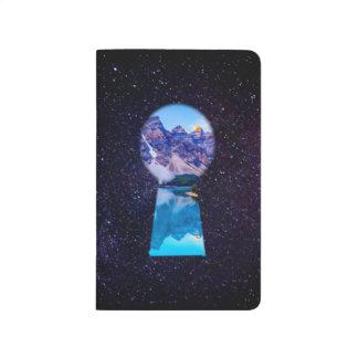 銀河系の鍵穴の錯覚の自然ジャーナル ポケットジャーナル