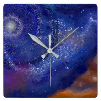 銀河系の鳥 スクエア壁時計