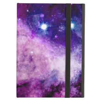 銀河系のiPad Airカバーは星雲の紫色のピンクを主演します