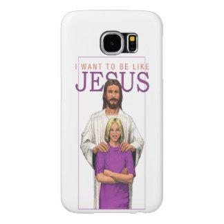 銀河系6の電話場合私はイエス・キリスト女性のようでありたいと思います SAMSUNG GALAXY S6 ケース