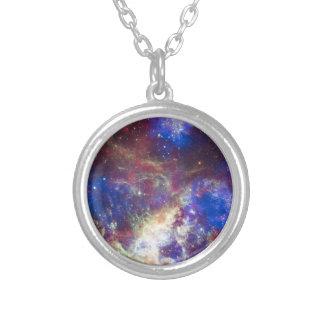 銀河系 シルバープレートネックレス