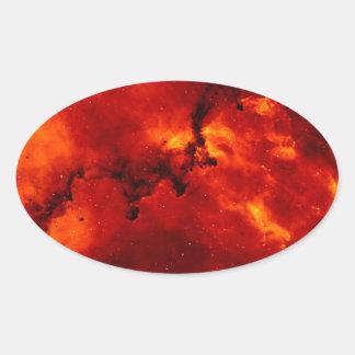 銀河系 楕円形シール