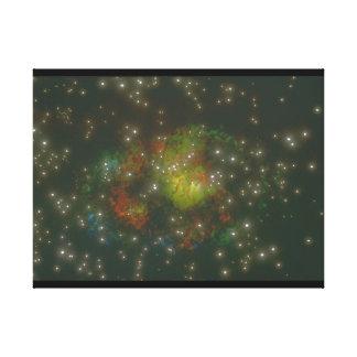 銀河系。 (銀河系; 宇宙; 星; 色の。_Space場面 キャンバスプリント