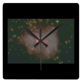 銀河系。 (銀河系; 宇宙; 星; co_Space場面 スクエア壁時計