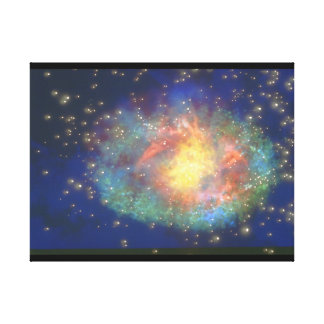 銀河系。 (銀河系; 宇宙; 星; color_Space場面 キャンバスプリント
