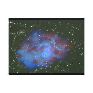 銀河系。 (銀河系; 宇宙; 星; nebula_Space場面 キャンバスプリント
