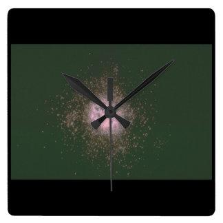 銀河系。 (銀河系; 宇宙; 星; _Space場面 スクエア壁時計