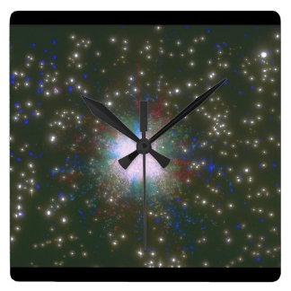 銀河系。 (銀河系; 宇宙; stars_Space場面 スクエア壁時計