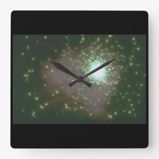 銀河系。 (銀河系; 星; planets_Space場面 スクエア壁時計
