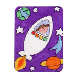"""銀河系Rocketship 3""""を探検しますx4""""写真の磁石 マグネット"""