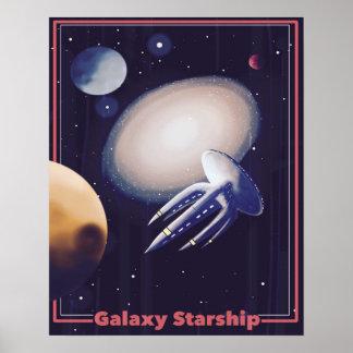 """""""銀河系Starship""""のレトロのポスター ポスター"""