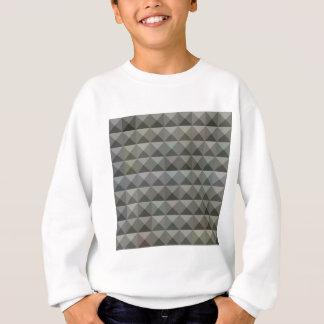銀色の灰色の抽象芸術の低い多角形の背景 スウェットシャツ