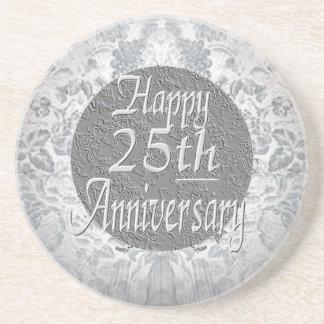 銀色銀|第25|記念日 ドリンクコースター