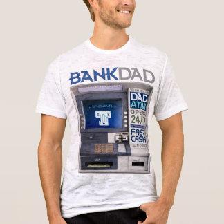 銀行パパ自動支払機のTシャツ Tシャツ