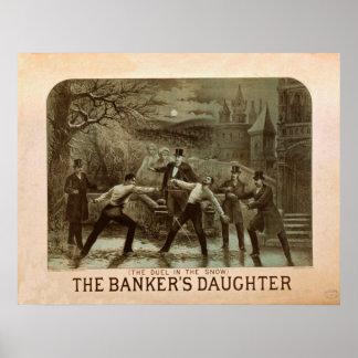銀行家の娘のヴィンテージポスター ポスター