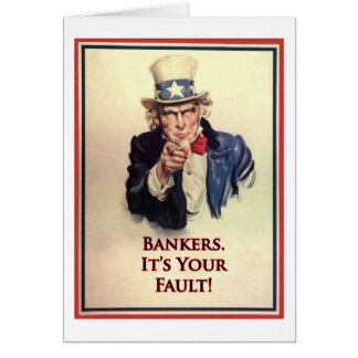 銀行家の米国市民ポスター カード