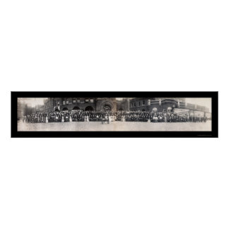 銀行家及びバドワイザーの写真1906年 ポスター