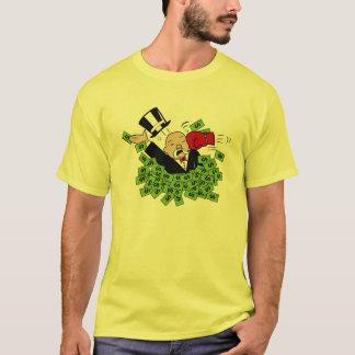 銀行家色の株式市場のワイシャツを打って下さい Tシャツ