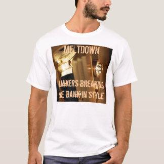 銀行家: スタイルの銀行の破損 Tシャツ