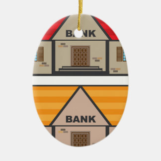 銀行建物 セラミックオーナメント