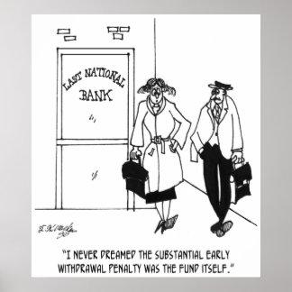 銀行漫画3328 ポスター