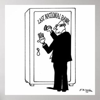 銀行漫画4011 ポスター