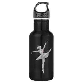 銀製および黒いカスタマイズ可能のバレリーナ ウォーターボトル