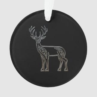 銀製および黒いシカのケルト族のスタイルの結び目 オーナメント