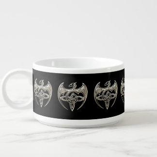 銀製および黒いドラゴンのTrineケルト結び目模様の芸術 チリボウル