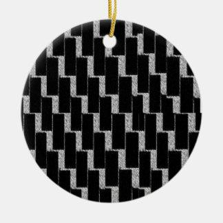銀製および黒い錯覚 セラミックオーナメント