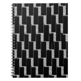 銀製および黒い錯覚 ノートブック