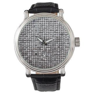 銀製のきらめく 腕時計