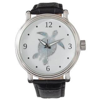 銀製のウミガメの白 腕時計