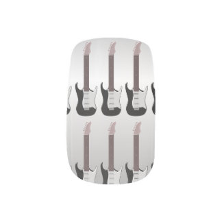 銀製のエレキギター ネイルデコレーション