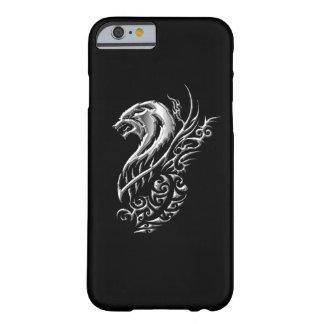 銀製のオオカミの黒 BARELY THERE iPhone 6 ケース