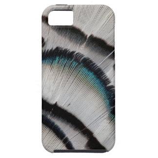 銀製のキジの羽のデザイン iPhone SE/5/5s ケース