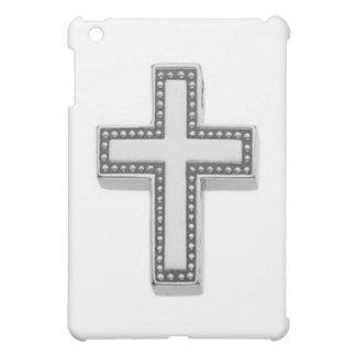銀製のキリスト教の十字かイースター iPad MINI カバー