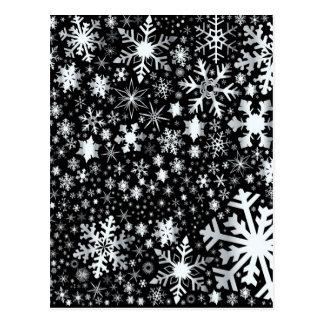 銀製のクリスマスの雪片 ポストカード