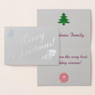 銀製のクリスマス 箔カード