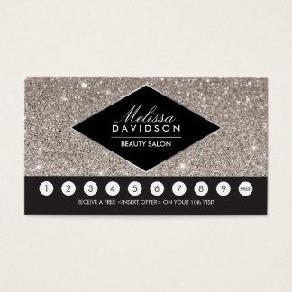 銀製のグリッターおよび魅力のサロンのロイヤリティカード 名刺