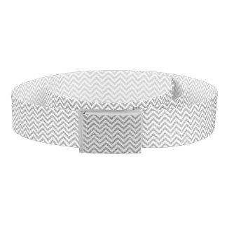 銀製のグリッターのジグザグ形のストライプなシェブロンパターン ベルト