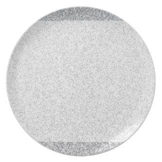 銀製のグリッターのブランクのテンプレート プレート