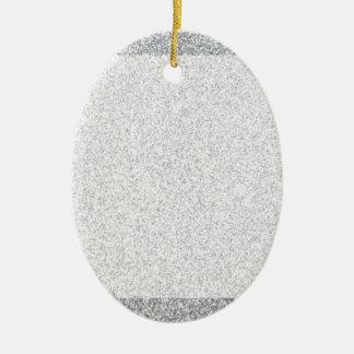 銀製のグリッターのブランクのテンプレート 陶器製卵型オーナメント