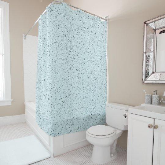 銀製のグリッターの一見の青いシャワー・カーテン シャワーカーテン