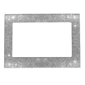 銀製のグリッターの輝きの金属の金属一見 マグネットフレーム
