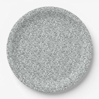 銀製のグリッターパターン ペーパープレート