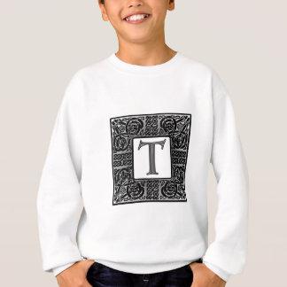 """銀製のケルト人""""T""""のモノグラム スウェットシャツ"""