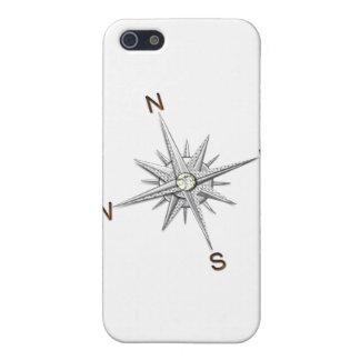 銀製のコンパスポイント運行 iPhone 5 カバー