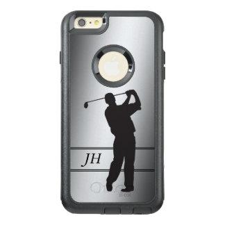 銀製のゴルファーのモノグラム オッターボックスiPhone 6/6S PLUSケース