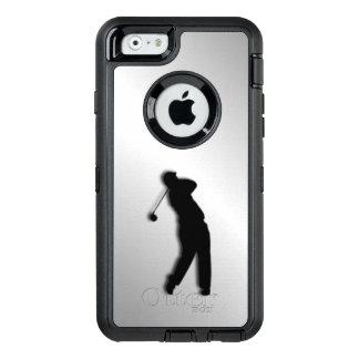 銀製のゴルフデザイン オッターボックスディフェンダーiPhoneケース